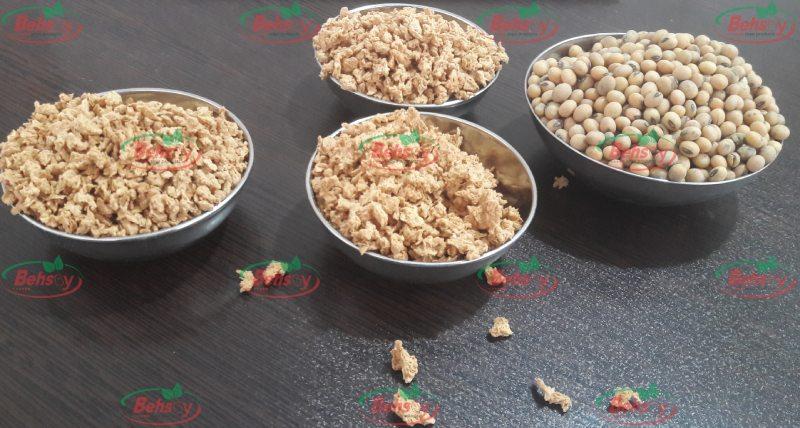انواع پروتئین سویا فله جهت خرید عمده